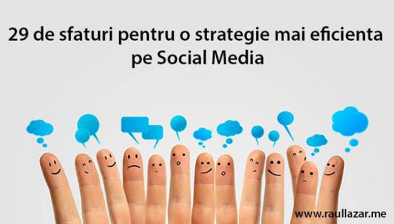 29 de sfaturi in social media